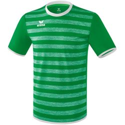 Erima Barcelona Shirt Korte Mouw Heren - Smaragd / Wit