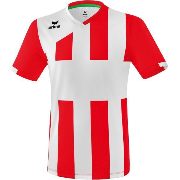 Erima Siena 3.0 Shirt Korte Mouw - Rood / Wit