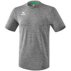 Erima Liga Shirt Korte Mouw Heren - Grijs Melange