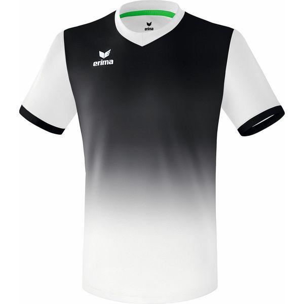 Erima Leeds Shirt Korte Mouw - Wit / Zwart