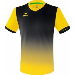 Erima Leeds Shirt Korte Mouw Heren - Geel / Zwart