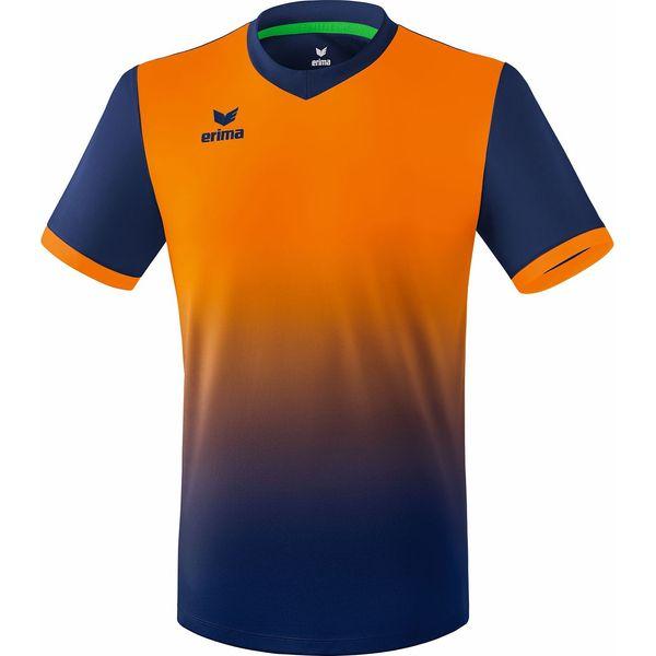 Erima Leeds Shirt Korte Mouw Kinderen - New Navy / Neon Oranje