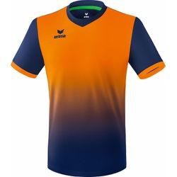 Erima Leeds Shirt Korte Mouw Heren - New Navy / Neon Oranje
