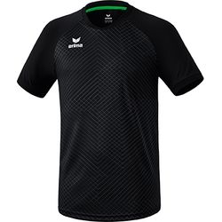 Erima Madrid Shirt Korte Mouw Heren - Zwart