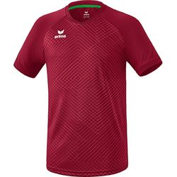 Erima Madrid Shirt Korte Mouw Kinderen - Bordeaux