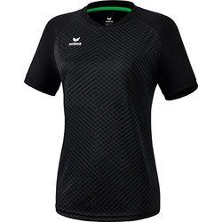 Erima Madrid Shirt Korte Mouw Dames - Zwart