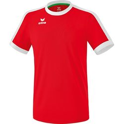 Erima Retro Star Shirt Korte Mouw Heren - Rood / Wit