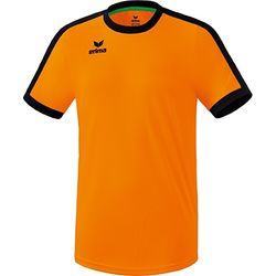 Erima Retro Star Shirt Korte Mouw Kinderen - New Orange / Zwart