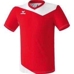 Erima Glasgow Shirt Korte Mouw Kinderen - Rood / Wit