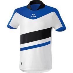 Voorvertoning: Erima Madrid Shirt Korte Mouw - Wit / New Royal / Zwart