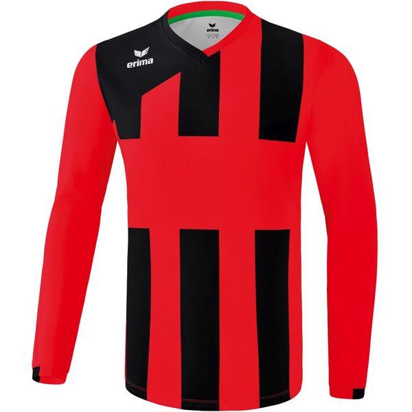 Erima Siena 3.0 Voetbalshirt Lange Mouw Heren - Rood / Zwart