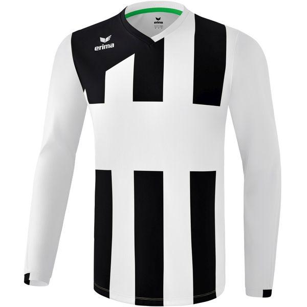 Erima Siena 3.0 Voetbalshirt Lange Mouw Kinderen - Wit / Zwart