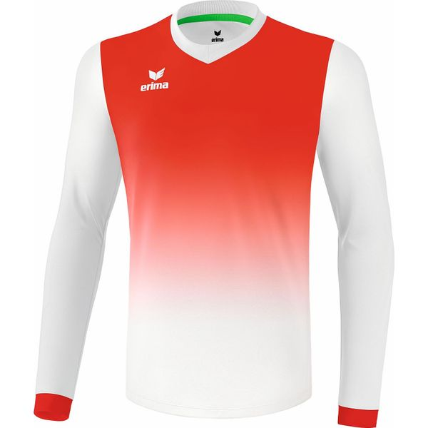 Erima Leeds Voetbalshirt Lange Mouw Kinderen - Wit / Rood
