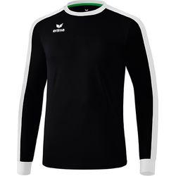 Erima Retro Star Voetbalshirt Lange Mouw Kinderen - Zwart / Wit