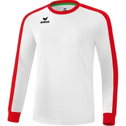 Erima Retro Star Voetbalshirt Lange Mouw Heren - Wit / Rood