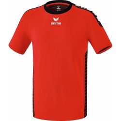 Erima Sevilla Shirt Korte Mouw Heren - Rood / Zwart