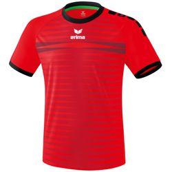 Erima Ferrara 2.0 Shirt Korte Mouw - Rood / Zwart