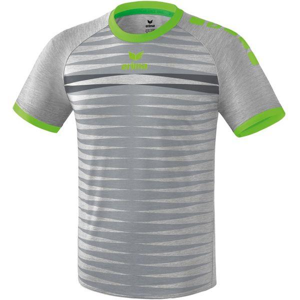 Erima Ferrara 2.0 Shirt Korte Mouw Heren - Grijs Melange / Green Gecko