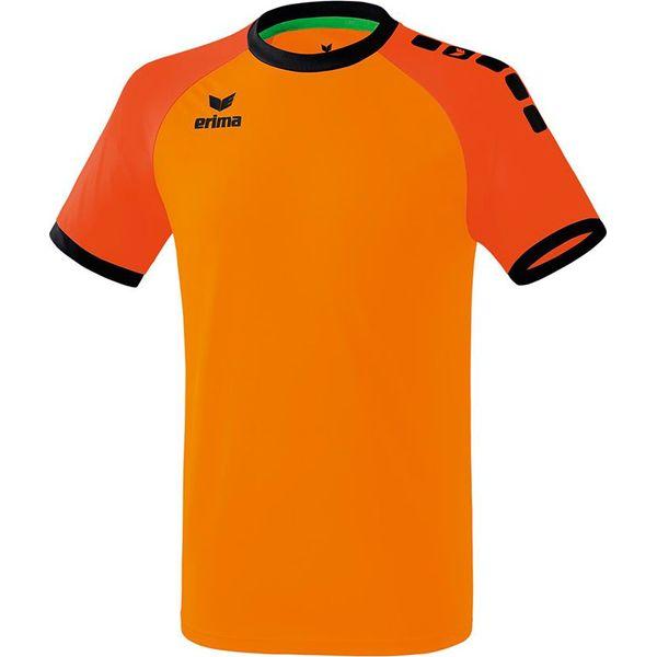 Erima Zenari 3.0 Shirt Korte Mouw Kinderen - Oranje / Mandarine / Zwart