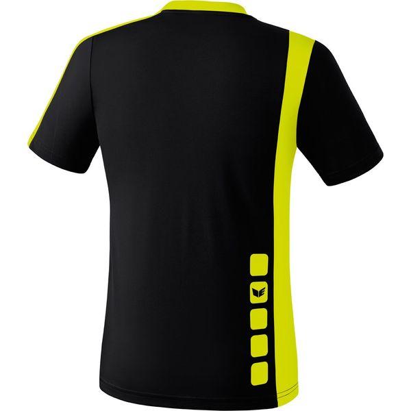 Erima Zamora Shirt Korte Mouw Kinderen - Zwart / Neongeel