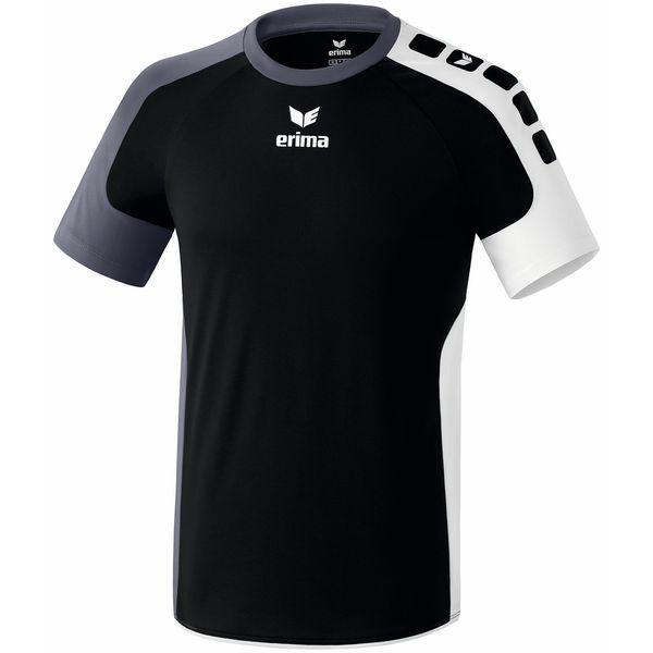 Erima Valencia Shirt Korte Mouw Kinderen - Zwart / Silex / Wit