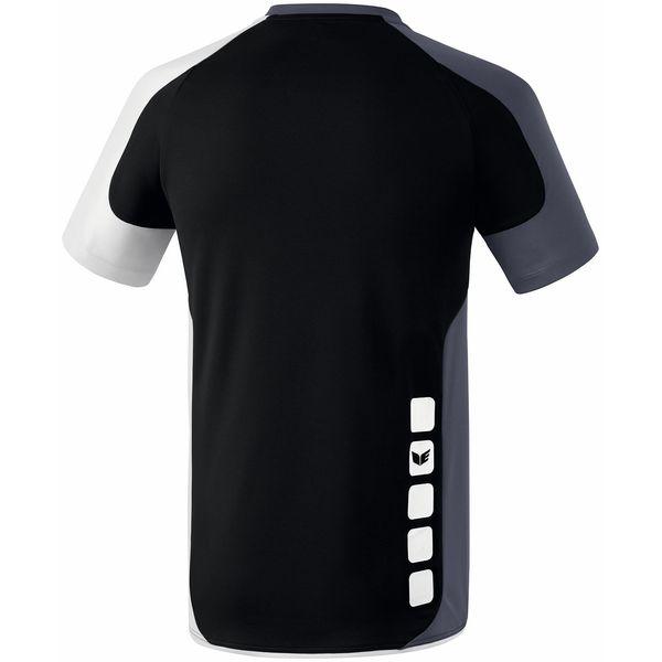 Erima Valencia Shirt Korte Mouw Heren - Zwart / Silex / Wit
