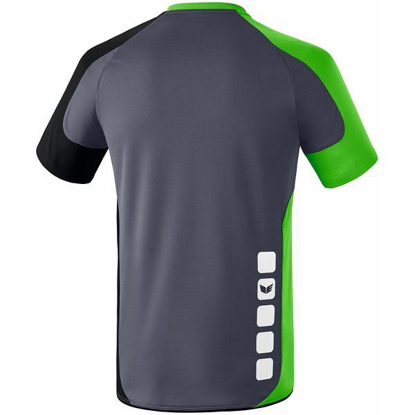 Erima Valencia Shirt Korte Mouw Kinderen - Silex / Green / Zwart