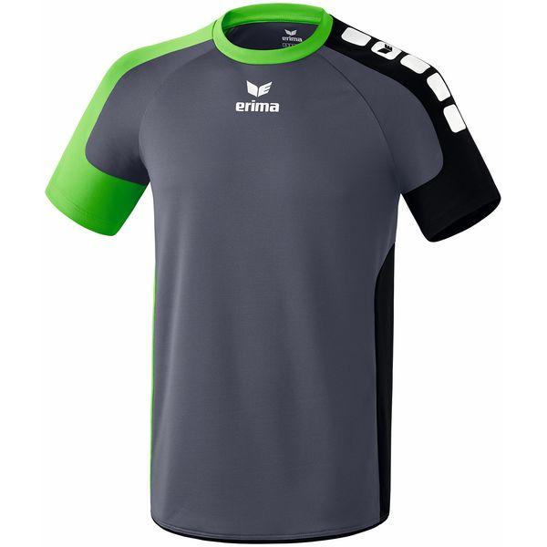 Erima Valencia Shirt Korte Mouw Heren - Silex / Green / Zwart