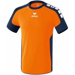 Voorvertoning: Erima Valencia Shirt Korte Mouw Kinderen - Neon Oranje / New Navy