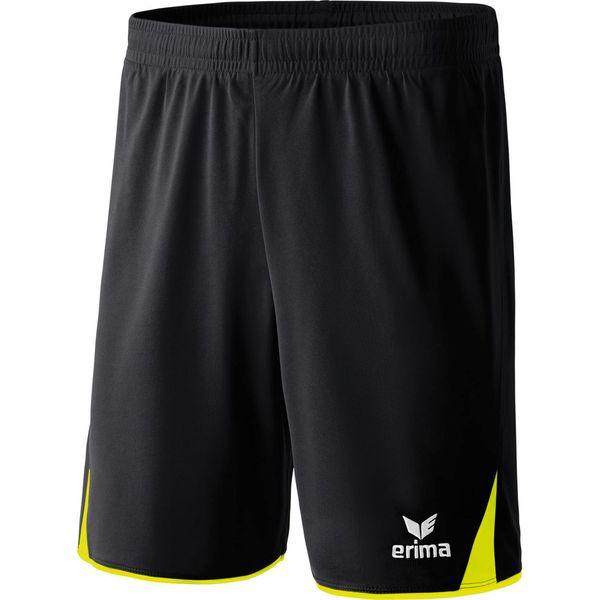 Erima 5-Cubes Short Kinderen - Zwart / Neongeel