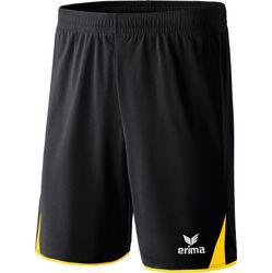 Erima 5-Cubes Short - Zwart / Geel