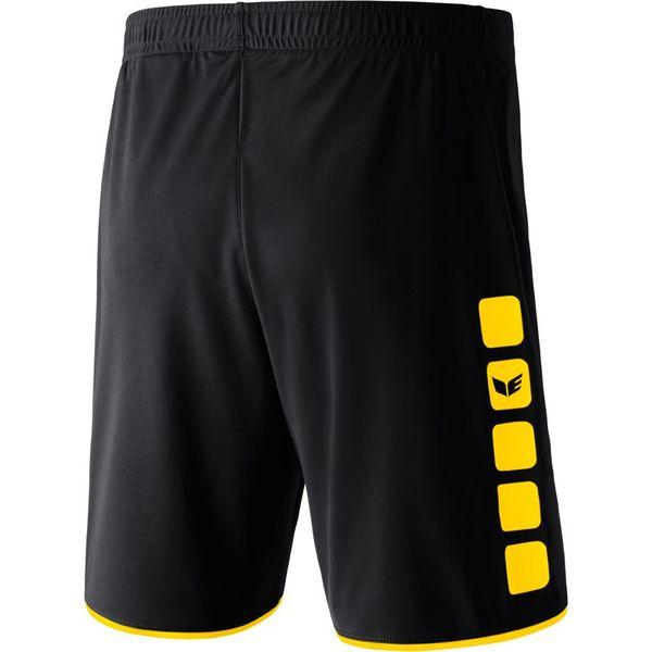 Erima 5-Cubes Short Heren - Zwart / Geel