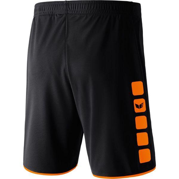 Erima 5-Cubes Short Heren - Zwart / Oranje