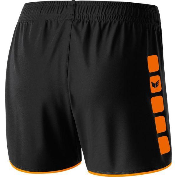 Erima 5-Cubes Short Dames - Zwart / Oranje