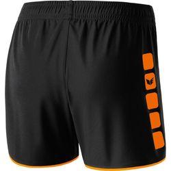 Voorvertoning: Erima 5-Cubes Short Dames - Zwart / Oranje