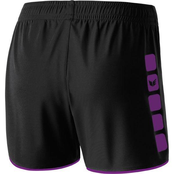 Erima 5-Cubes Short Dames - Zwart / Lila