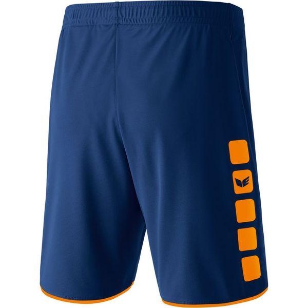 Erima 5-Cubes Short Hommes - New Navy / Néon Orange