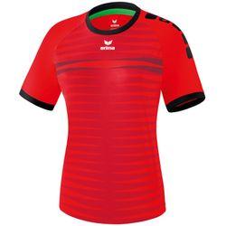 Erima Ferrara 2.0 Shirt Korte Mouw Dames - Rood / Zwart