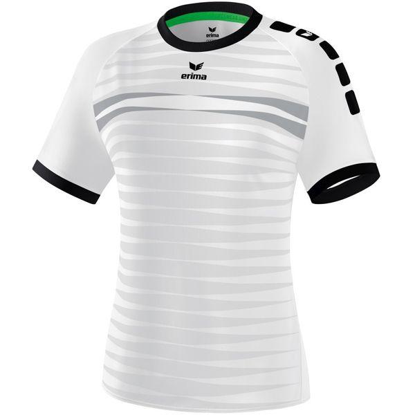 Erima Ferrara 2.0 Shirt Korte Mouw Dames - Wit / Zwart