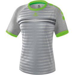 Erima Ferrara 2.0 Shirt Korte Mouw Dames - Grijs Melange / Green Gecko