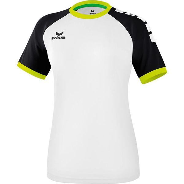 Erima Zenari 3.0 Shirt Korte Mouw Dames - Wit / Zwart / Lime Pop