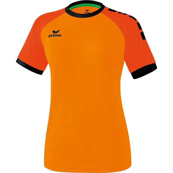 Erima Zenari 3.0 Shirt Korte Mouw Dames - Oranje / Mandarine / Zwart