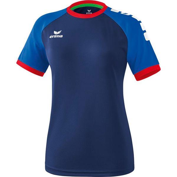 Erima Zenari 3.0 Shirt Korte Mouw Dames - New Navy / New Royal / Rood