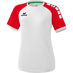 Erima Zenari 3.0 Shirt Korte Mouw Dames - Wit / Rood