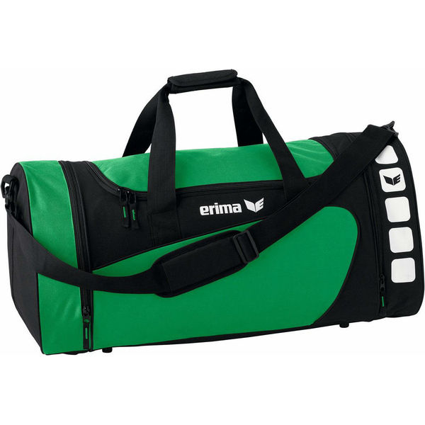 Erima Club 5 (L) Sporttas Met Zijvakken - Smaragd / Zwart