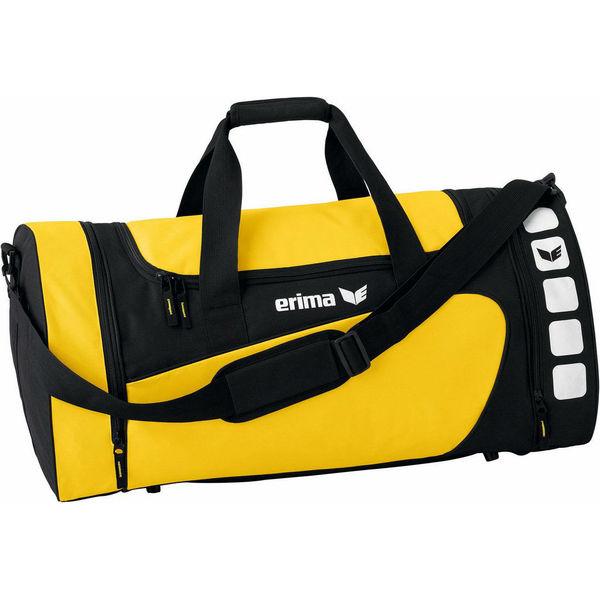 Erima Club 5 (S) Sporttas Met Zijvakken - Geel / Zwart