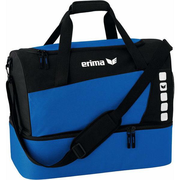Erima Club 5 (Small) Sac De Sport Avec Compartiment Inférieur - Royal / Noir