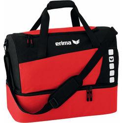 Erima Club 5 (Small) Sac De Sport Avec Compartiment Inférieur - Rouge / Noir