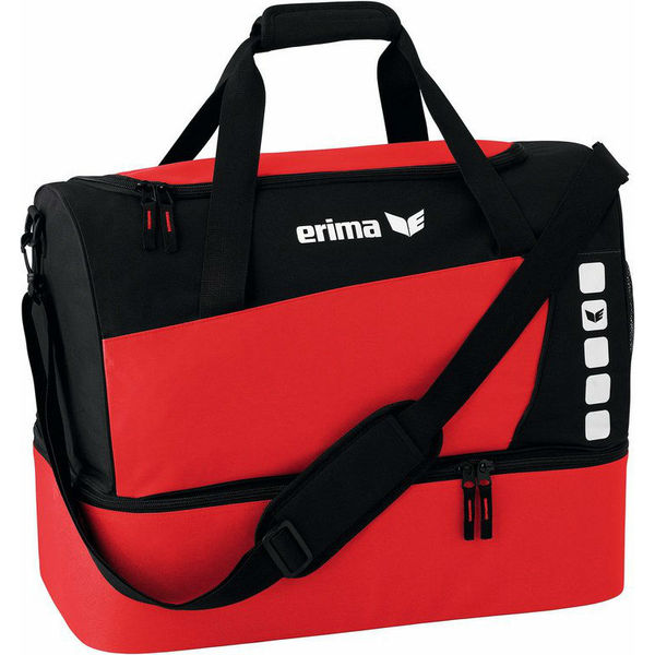Erima Club 5 (Large) Sporttas Met Bodemvak - Rood / Zwart