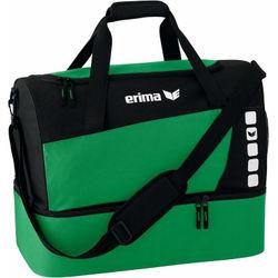 Erima Club 5 (Small) Sporttas Met Bodemvak - Groen / Zwart